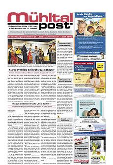 Mühltalpost November Ausgabe 2009
